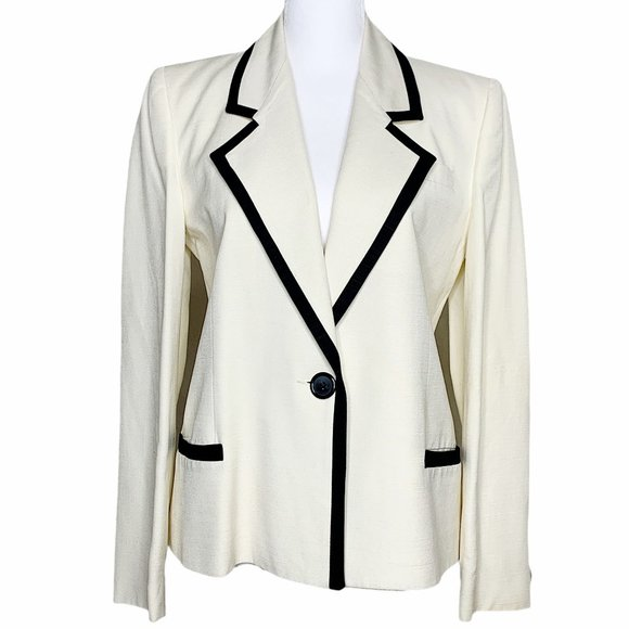 Christian Dior Vintage Suit Linen Blazer Size 6